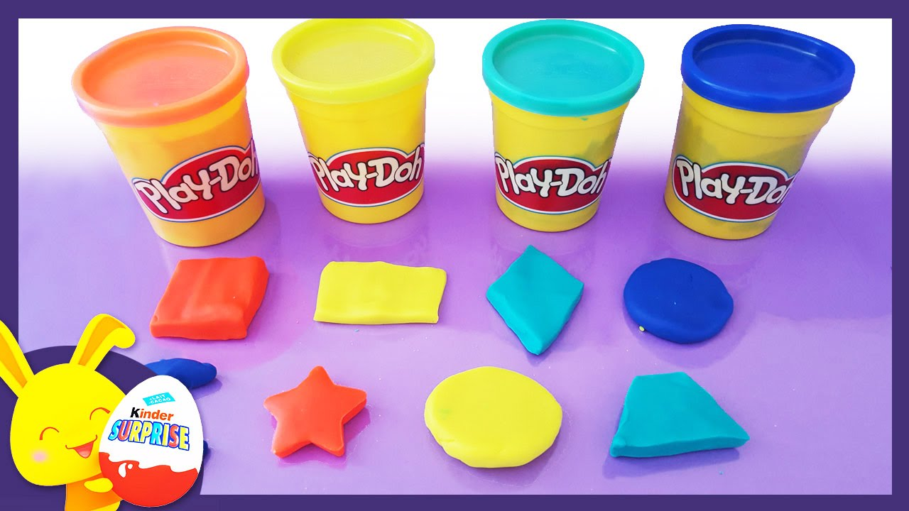 Apprendre les formes avec la pâte à modeler Play-Doh - Titounis - Touni Toys - YouTube