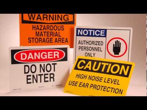 Workplace Safety Signs | OSHA-Required Signage from Labelmaster