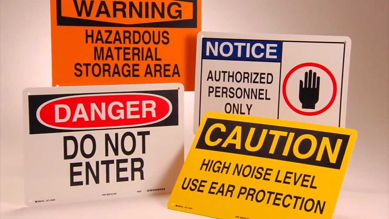 Workplace Safety Signs Osha Required Signage From Labelmaster