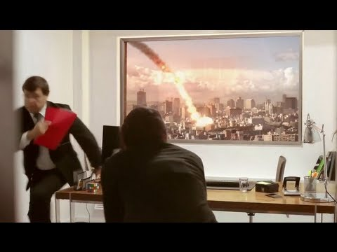Lg ultra hd 84 tv prank meteor explodes during job interview youtube - Ultra high def tv prank ...