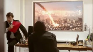 "LG Ultra HD 84"" TV PRANK (METEOR EXPLODES DURING JOB INTERVIEW)"