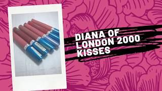 2000 Kisses Lipsticks by Diana Of London Lipstick Swatches SaraZ