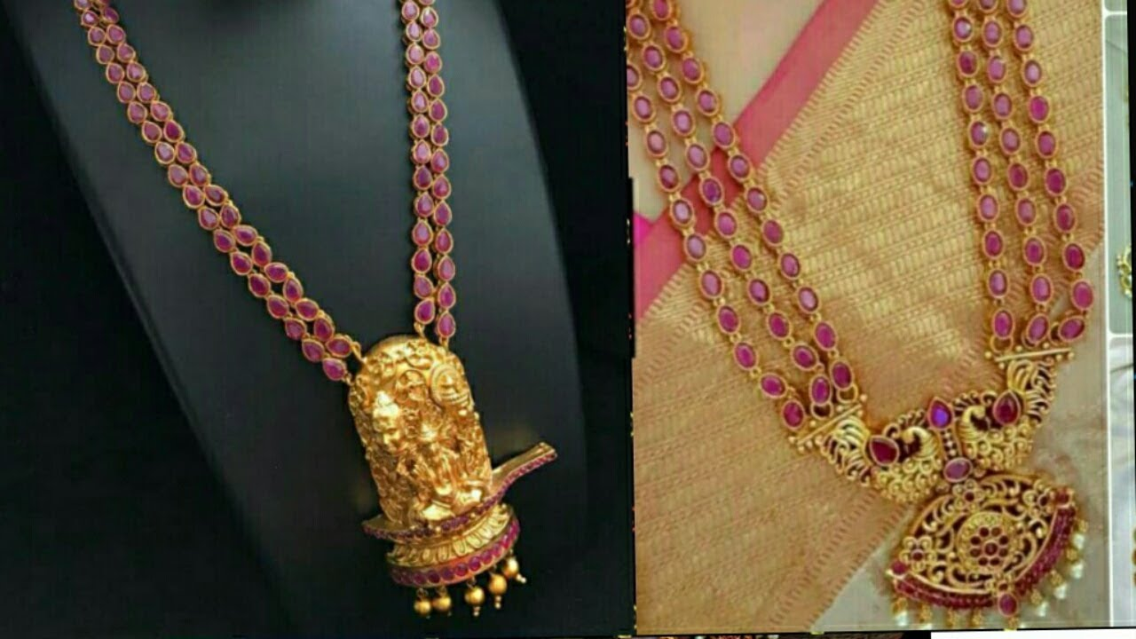 8f5c306553 Latest 1 gram gold plated Temple jewellery with earrings|| kundan stone  necklace|| matt finish