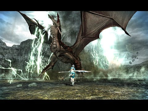 Vindictus : Siglint (Dragon Boss) Scythe Evie Gameplay