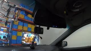 쏘렌토 차량에 하이패스룸미러, 측후방 카메라 룸미러모니…