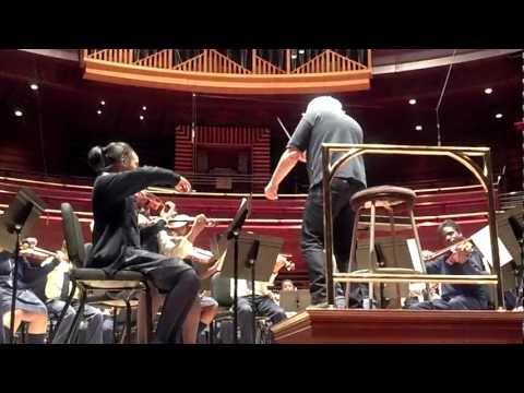 Sir Simon Rattle rehearsing Play On, Philly Symphony Orchestra