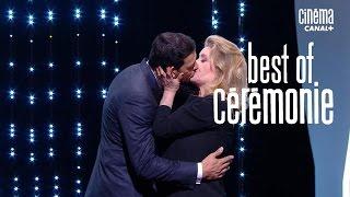 Le baiser de Catherine Deneuve et Laurent Lafitte - Cannes 2016 CANAL+