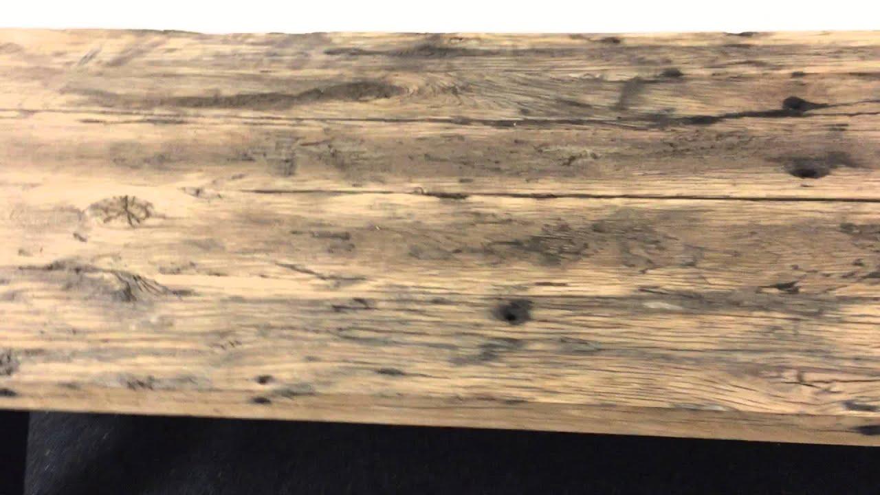 robuuste tafel van oude eiken wagondelen youtube