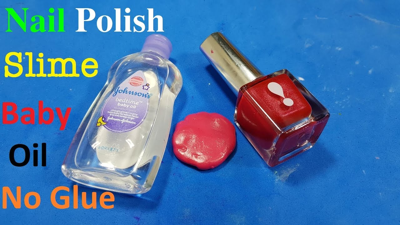 how to make slime with nail polish remover