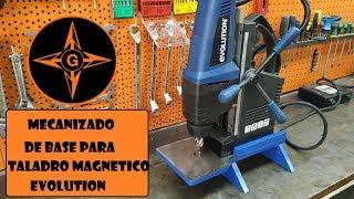 BASE METALICA PARA TALADRO MAGNETICO CON MATERIAL RECICLADO GINESSOT