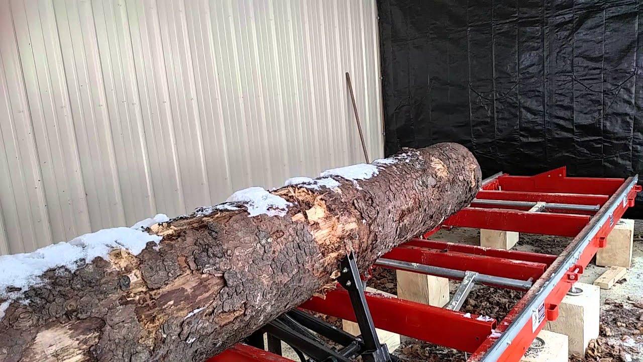 Woodmizer LT-15 wide log turner in action - Steve Schwab,mumclip com