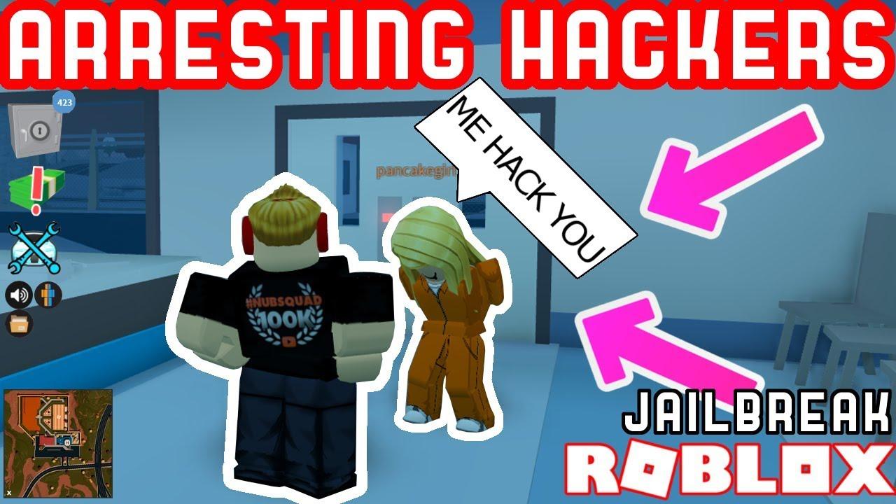 Giving L S To Stupid No Clip Hackers Roblox Jailbreak Hacker