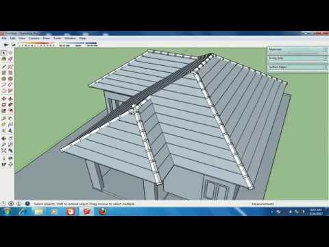 Modeling roof detail with Sketchup - Roofing Modeling in Sketchup