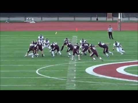 UChicago football highlight: Sam Coleman 35-yard touchdown from Patrick Ryan (9-6-2014)