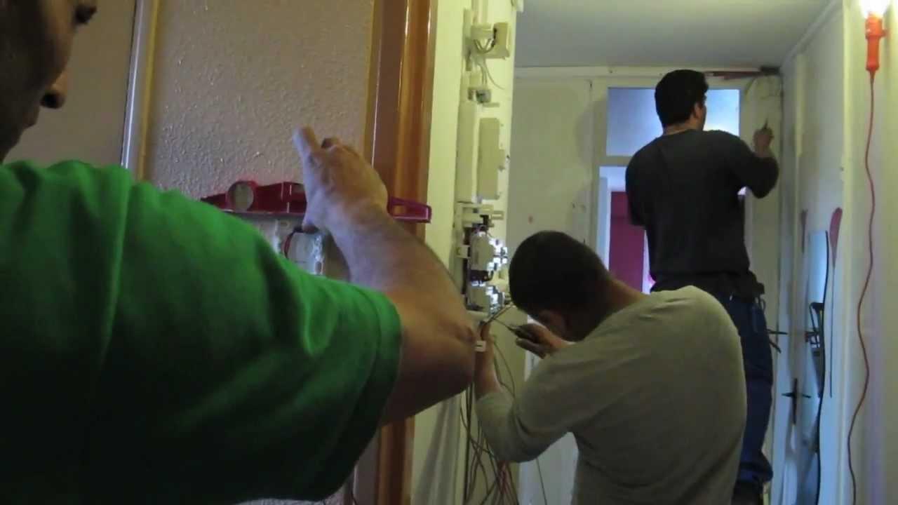 modernisation de linstallation lectrique youtube - Refaire Installation Electrique Appartement