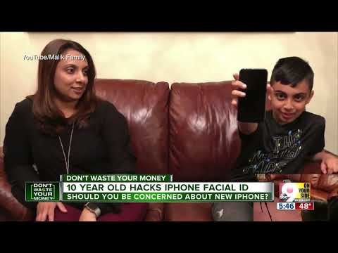 Apple's iPhone facial ID defeated by 10 year old