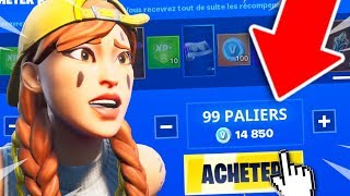 I DISCOVER AND BUY ALL NEW SAISON COMBAT PAS 10 on Fortnite Battle Royale!