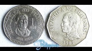 Coin collection | Philippines | 2 Coins ( 1 & 2 Piso ) from 1976