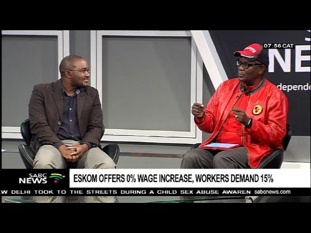 South Africa's electricity company, Eskom offers 0% wage increase, workers demand 15%