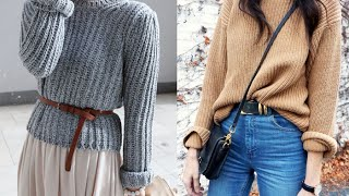 Knit Sweaters For Women - 20 Style Tips On How To Wear Knit Sweaters This Winter