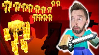 HOW WILL I SURVIVE THIS!? (Nether Fortress Attack!) / Mastering Minecraft 10