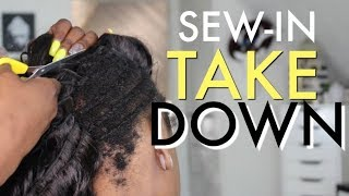 SEW IN TAKE DOWN  ⁉️ 2 MONTHS OF HAIR GROWTH ⁉️ UNDER WEAVE