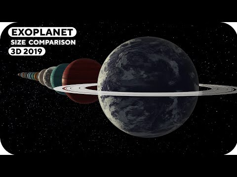 Exoplanet Size Comparison | 3D 2019 🎨