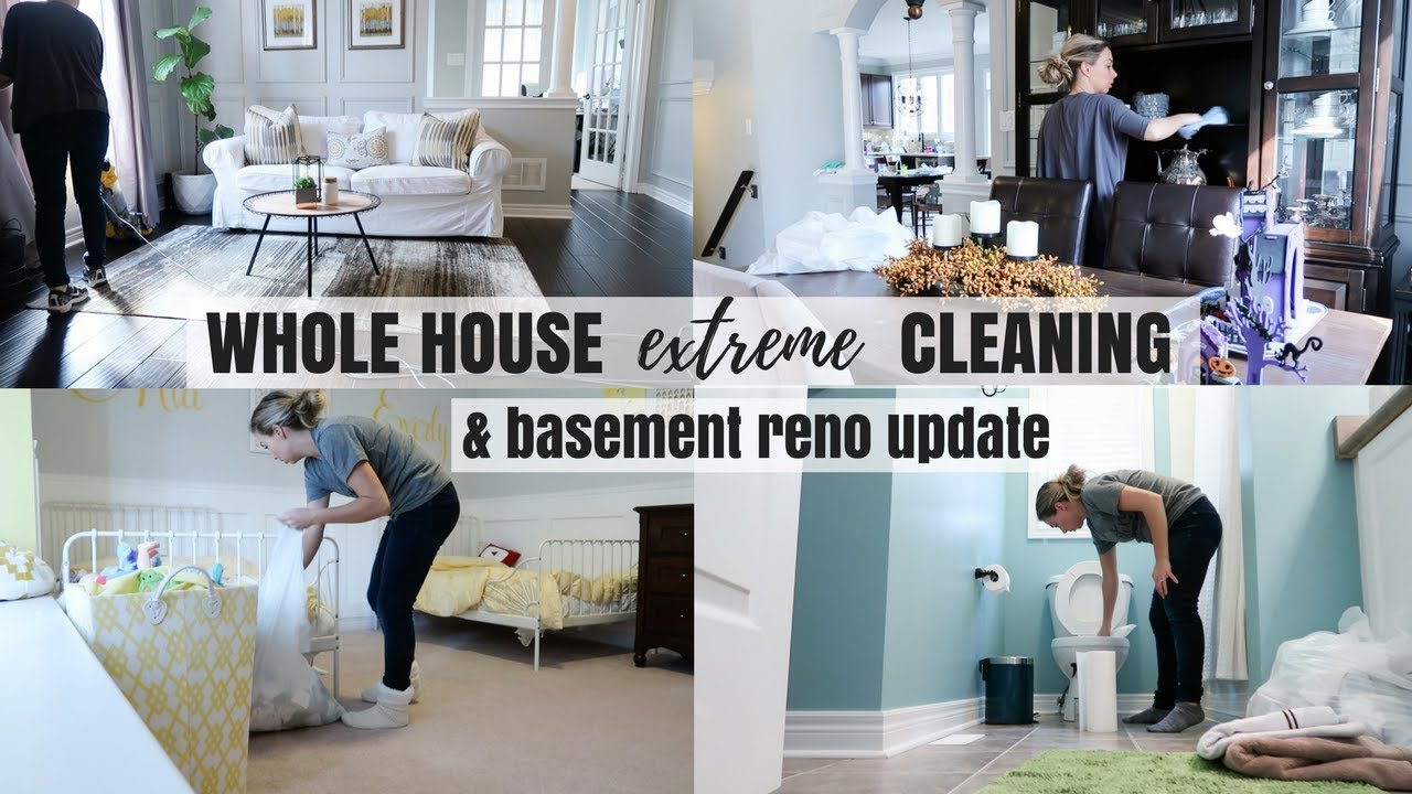 Clean My Entire House With Me Motivation Basement Renovation Update Nesting Story