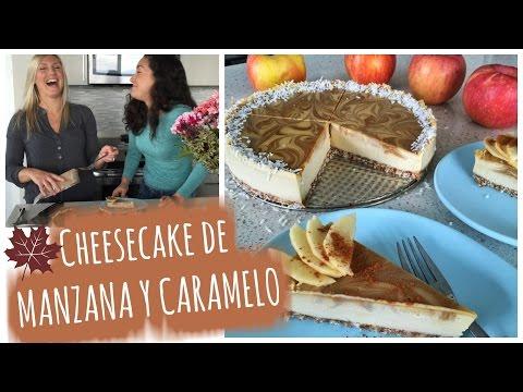 cheesecake-de-manzana-y-caramelo-||-raw-vegan-caramel-apple-cheesecake-🍎