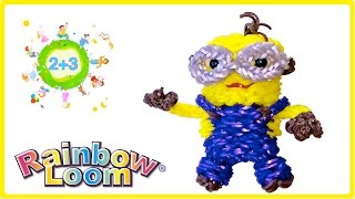 МИНЬОН 3D из резинок Rainbow loom bands