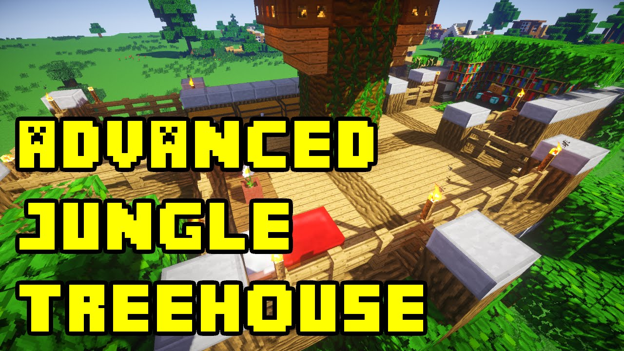 Minecraft advanced jungle treehouse tutorial xbox pc pe for How to build a house cheap and fast