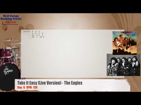 Take It Easy (Live Version) - The Eagles Drums Backing Track with ...