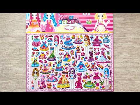 HÌNH DÁN STICKER KHỔNG LỒ - Thay Trang Phục Búp Bê Công Chúa - Sticker Toys (Chim Xinh)