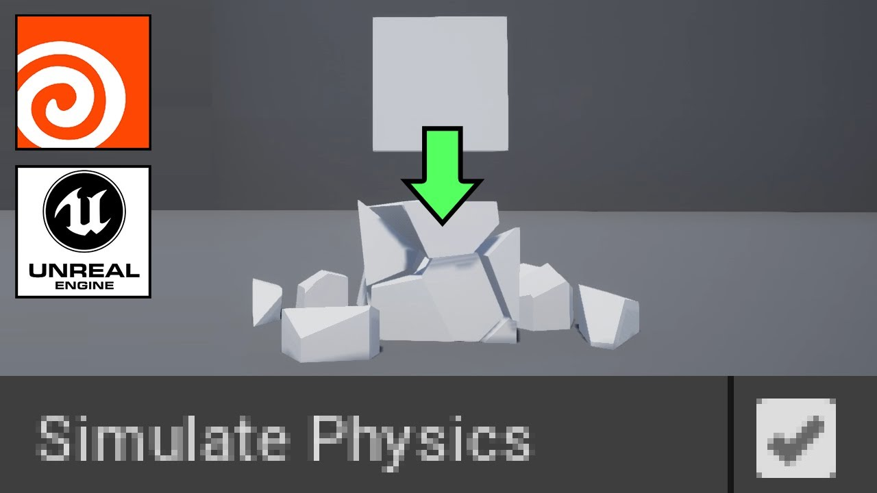 Houdini/Unreal: Create box with collision and physics with Houdini Engine