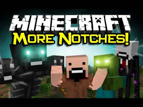 Minecraft: MORE NOTCHES MOD Spotlight! - Notch Mobs x LOTS! (Minecraft Mod Showcase)
