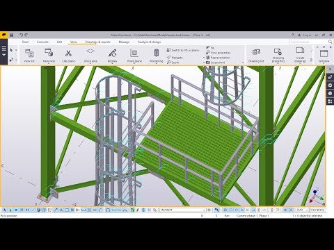 How to create water tank tower structure PART-2 in TEKLA STRUCTURES 2017