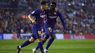 Celta vigo vs barcelona [2-2], la liga, 2018 - match review