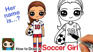 How to Draw a Soccer Player Cute Girl