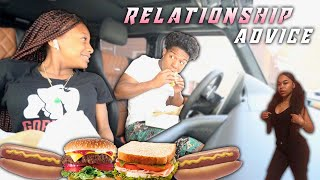 I GAVE MY SISTER RELATIONSHIP ADVICE (She Asked About Kye) *Mukbang*