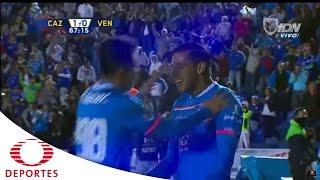 Gol de Benítez |Cruz Azul 1-0 Venados |Televisa Deportes