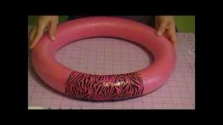 How to Make a Wreath Out of a Pool Noodle!! 30 Days of Pinterest!! Thumbnail