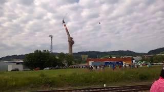 Odstřel komína Žamberk / Dlouhoňovice 5.7.2017