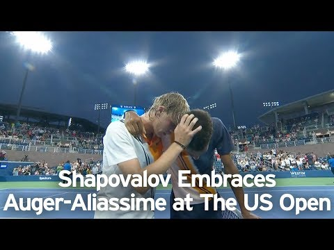Denis Shapovalov and Felix Auger-Aliassime Embrace At the US Open