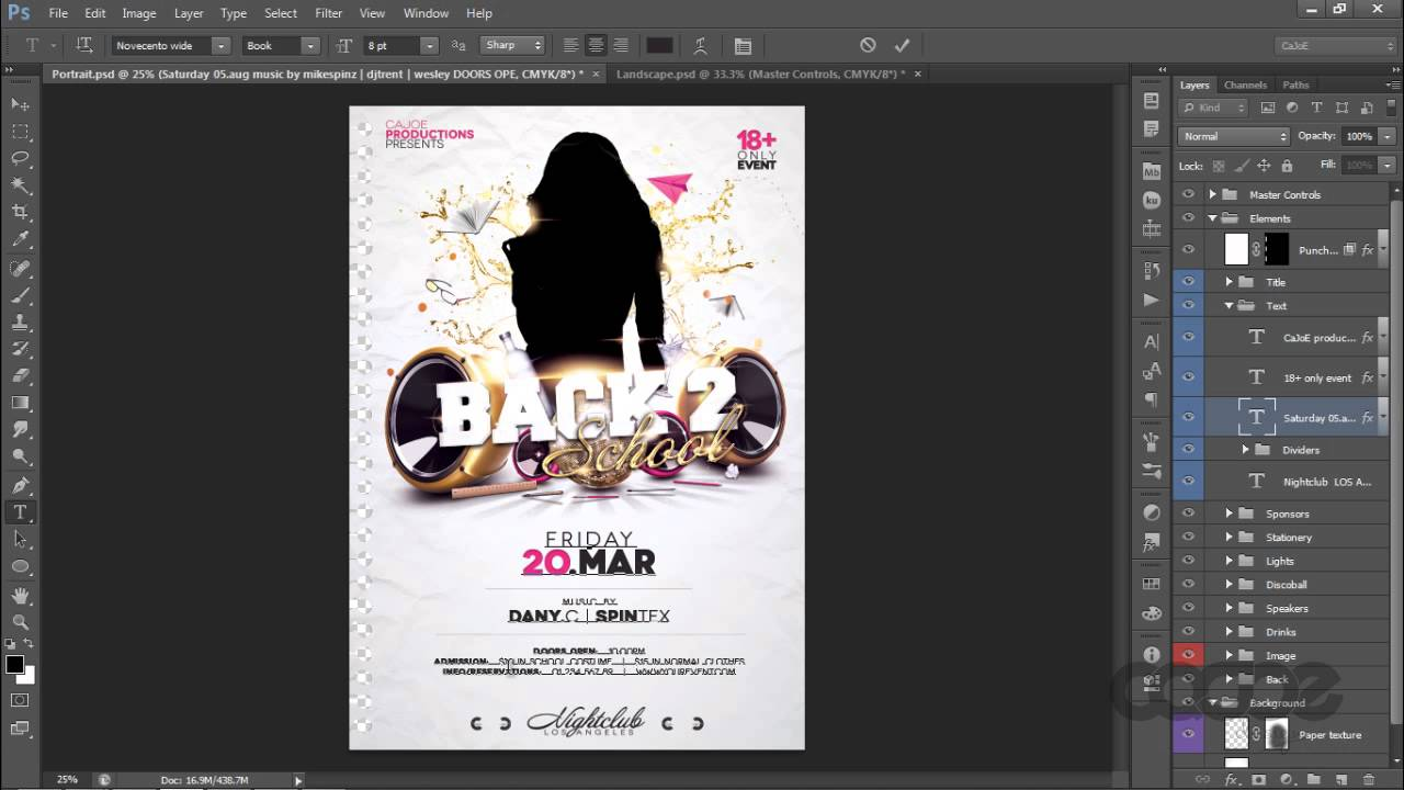 club flyer template school college night preview youtube