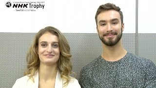 NHK Trophy 2016 Competitor Interview - Ice Dance ガブリエラ・パパダキス 検索動画 7