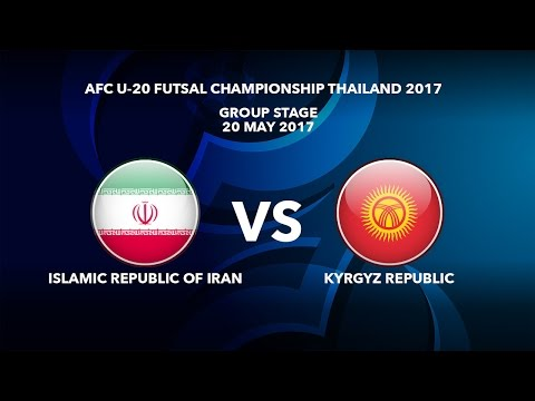 M40 ISLAMIC REPUBLIC OF IRAN vs KYRGYZ REPUBLIC - AFC U-20 Futsal Championship Thailand 2017