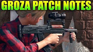Player Unknown Battlegrounds GROZA UPDATE PATCH NOTES! (New patch notes)