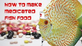 How to make medicated fish food for Discus to treat for internal parasites.