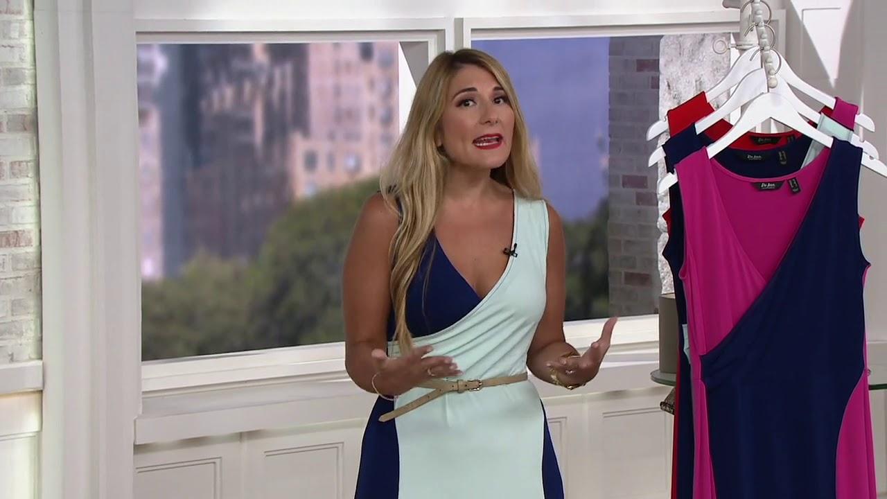Du Jour Sleeveless Color-Blocked Knit Maxi Dress on QVC