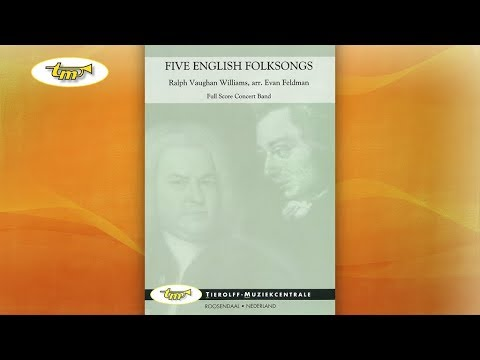Five English Folk Songs - Concert Band - Vaughan Williams - Feldman -  Tierolff